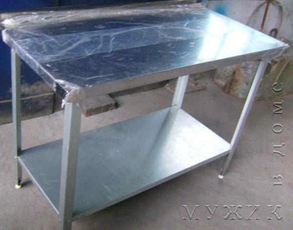металлическая кухонная столешница из нержавеющей стали