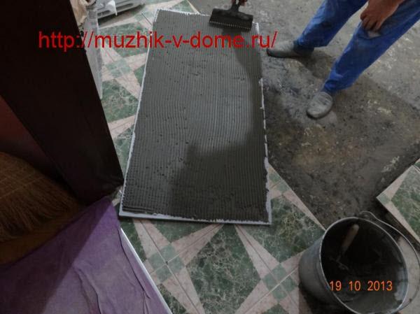приклеивание утеплителя к бетонному основанию пола