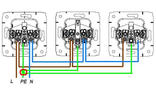 соединение выключателей между собой