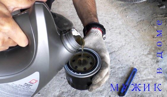 замена масляного фильтра в автомобиле своими руками